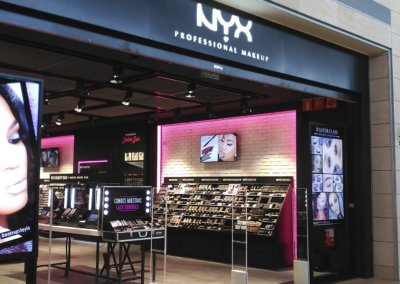 NYX by Loreal stores. Spain