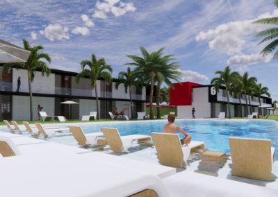 Beach Club Mayamar. Playa del Carmen. México